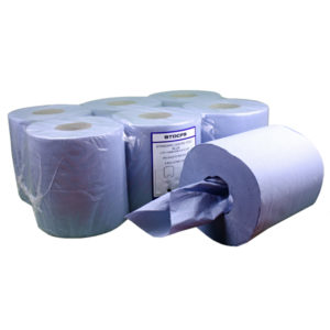 STD CENTRE FEED BLUE 2ply EMBOSSED